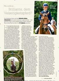 Titelbild der Ausgabe 30/2019 von Was wurde aus …… Brilliante, dem Vielseitigkeitspferd?. Zeitschriften als Abo oder epaper bei United Kiosk online kaufen.