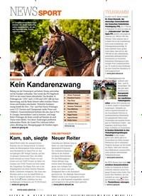 Titelbild der Ausgabe 40/2019 von NEWSSPORT: VIELSEITIGKEIT: Neuer Reiter. Zeitschriften als Abo oder epaper bei United Kiosk online kaufen.