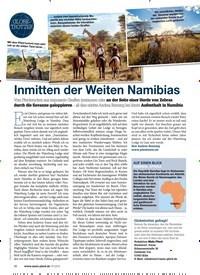 Titelbild der Ausgabe 70/2019 von Inmitten der Weiten Namibias. Zeitschriften als Abo oder epaper bei United Kiosk online kaufen.