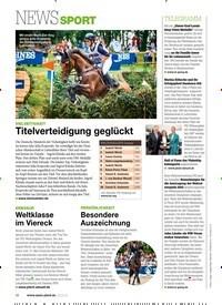 Titelbild der Ausgabe 80/2019 von NEWS SPORT: VIELSEITIGKEIT: Titelverteidigung geglückt. Zeitschriften als Abo oder epaper bei United Kiosk online kaufen.