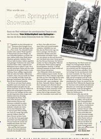 Titelbild der Ausgabe 80/2019 von Was wurde aus …: … dem Springpferd Snowman?. Zeitschriften als Abo oder epaper bei United Kiosk online kaufen.