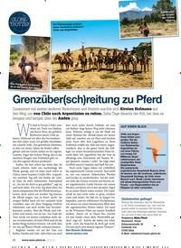 Titelbild der Ausgabe 80/2019 von GLOBETROTTER: Grenzüber(sch)reitung zu Pferd. Zeitschriften als Abo oder epaper bei United Kiosk online kaufen.