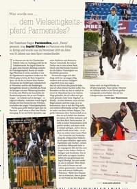 Titelbild der Ausgabe 10/2020 von Was wurde aus … … dem Vielseitigkeitspferd Parmenides?. Zeitschriften als Abo oder epaper bei United Kiosk online kaufen.