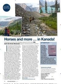 Titelbild der Ausgabe 20/2020 von GLOBETROTTER: Horses and more in Kanada!. Zeitschriften als Abo oder epaper bei United Kiosk online kaufen.