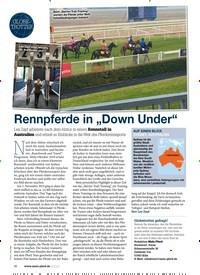 """Titelbild der Ausgabe 80/2020 von GLOBE-TROTTER: Rennpferde in """"Down Under"""". Zeitschriften als Abo oder epaper bei United Kiosk online kaufen."""