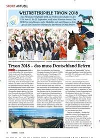 Titelbild der Ausgabe 60/2018 von WELTREITERSPIELE TRYON 2018. Zeitschriften als Abo oder epaper bei United Kiosk online kaufen.