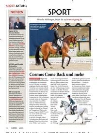 Titelbild der Ausgabe 60/2018 von SPORT: Cosmos Come Back und mehr. Zeitschriften als Abo oder epaper bei United Kiosk online kaufen.