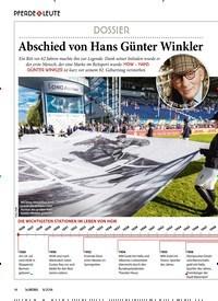 Titelbild der Ausgabe 80/2018 von PFERDE & LEUTE: DOSSIER: Abschied von Hans Günter Winkler. Zeitschriften als Abo oder epaper bei United Kiosk online kaufen.