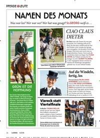 Titelbild der Ausgabe 80/2018 von PFERDE & LEUTE: NAMEN DES MONATS. Zeitschriften als Abo oder epaper bei United Kiosk online kaufen.