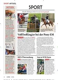 Titelbild der Ausgabe 90/2018 von SPORT AKTUELL: SPORT: VollTreff(ing)er bei der Pony-EM. Zeitschriften als Abo oder epaper bei United Kiosk online kaufen.