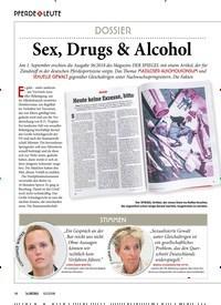 Titelbild der Ausgabe 100/2018 von PFERDE & LEUTE: DOSSIER: Sex, Drugs & Alcohol. Zeitschriften als Abo oder epaper bei United Kiosk online kaufen.