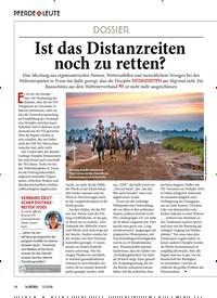 Titelbild der Ausgabe 110/2018 von PFERDE & LEUTE DOSSIER: Ist das Distanzreiten noch zu retten?. Zeitschriften als Abo oder epaper bei United Kiosk online kaufen.