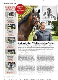 Titelbild der Ausgabe 120/2018 von PFERD DES MONATS Askari, der Weltmeister-Vater. Zeitschriften als Abo oder epaper bei United Kiosk online kaufen.