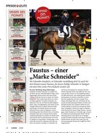 """Titelbild der Ausgabe 10/2019 von PFERD DES MONATS: Faustus – einer """"Marke Schneider"""". Zeitschriften als Abo oder epaper bei United Kiosk online kaufen."""