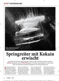 Titelbild der Ausgabe 10/2019 von SPORT HINTERGRUND: Springreiter mit Kokain erwischt. Zeitschriften als Abo oder epaper bei United Kiosk online kaufen.