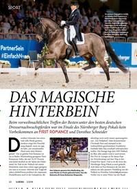 Titelbild der Ausgabe 20/2019 von SPORT: DAS MAGISCHE HINTERBEIN. Zeitschriften als Abo oder epaper bei United Kiosk online kaufen.