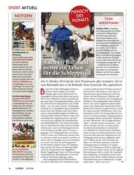 Titelbild der Ausgabe 100/2019 von Auch im Rollstuhl weiter ein Leben für die Schleppjagd. Zeitschriften als Abo oder epaper bei United Kiosk online kaufen.