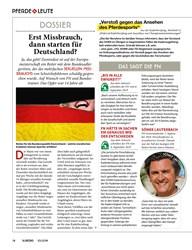 Titelbild der Ausgabe 100/2019 von PFERDE LEUTE: DOSSIER: Erst Missbrauch, dann starten für Deutschland?. Zeitschriften als Abo oder epaper bei United Kiosk online kaufen.