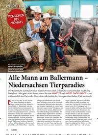 Titelbild der Ausgabe 101/2019 von Alle Mann am Ballermann – Niedersachsen Tierparadies. Zeitschriften als Abo oder epaper bei United Kiosk online kaufen.