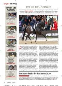 Titelbild der Ausgabe 40/2020 von SPORT: PFERD DES MONATS. Zeitschriften als Abo oder epaper bei United Kiosk online kaufen.