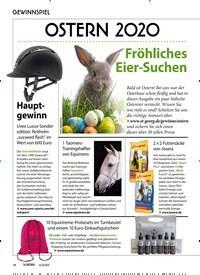 Titelbild der Ausgabe 40/2020 von GEWINNSPIEL: OSTERN 2020. Zeitschriften als Abo oder epaper bei United Kiosk online kaufen.