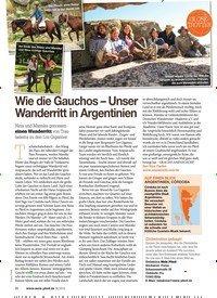 Titelbild der Ausgabe 60/2018 von Wie die Gauchos – Unser Wanderritt in Argentinien. Zeitschriften als Abo oder epaper bei United Kiosk online kaufen.