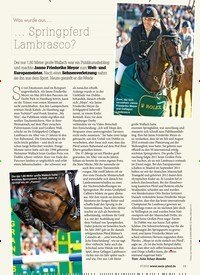 Titelbild der Ausgabe 70/2018 von Was wurde aus …: … Springpferd Lambrasco?. Zeitschriften als Abo oder epaper bei United Kiosk online kaufen.