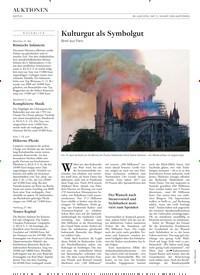Titelbild der Ausgabe 11/2019 von Kulturgut als Symbolgut: Brief aus Paris. Zeitschriften als Abo oder epaper bei United Kiosk online kaufen.