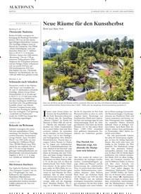 Titelbild der Ausgabe 13/2019 von Neue Räume für den Kunstherbst. Zeitschriften als Abo oder epaper bei United Kiosk online kaufen.