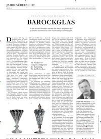Titelbild der Ausgabe 13/2019 von WIE ENTWICKELT SICH DERMARKTFÜR…:BAROCKGLAS. Zeitschriften als Abo oder epaper bei United Kiosk online kaufen.