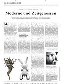 Titelbild der Ausgabe 2/2020 von JAHRESÜBERSICHT: Moderne und Zeitgenossen. Zeitschriften als Abo oder epaper bei United Kiosk online kaufen.