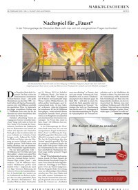 """Titelbild der Ausgabe 3/2020 von MARKTGESCHEHEN: Nachspiel für """"Faust"""". Zeitschriften als Abo oder epaper bei United Kiosk online kaufen."""