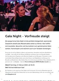 Titelbild der Ausgabe 1/2020 von Gala Night – Vorfreude steigt. Zeitschriften als Abo oder epaper bei United Kiosk online kaufen.