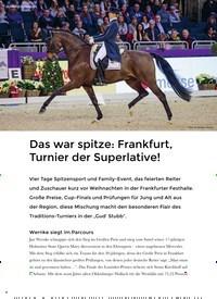 Titelbild der Ausgabe 1/2020 von VERANSTALTUNGEN: Das war spitze: Frankfurt, Turnier der Superlative!. Zeitschriften als Abo oder epaper bei United Kiosk online kaufen.