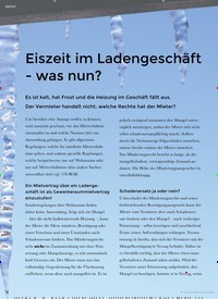 Titelbild der Ausgabe 1/2020 von RECHT: Eiszeit im Ladengeschäft - was nun?. Zeitschriften als Abo oder epaper bei United Kiosk online kaufen.