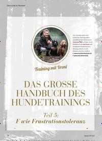 Titelbild der Ausgabe 8/2020 von Training mit Vroni: DAS GROSSE HANDBUCH DES HUNDETRAININGS. Zeitschriften als Abo oder epaper bei United Kiosk online kaufen.