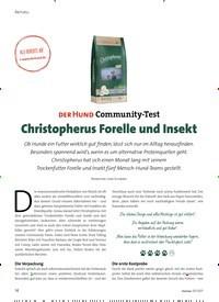 Titelbild der Ausgabe 3/2021 von DER HUND Community-Test: Christopherus Forelle und Insekt. Zeitschriften als Abo oder epaper bei United Kiosk online kaufen.