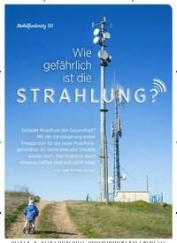 Titelbild der Ausgabe 5/2019 von Mobilfunknetz 5G: Wie gefährlich ist die STRAHLUNG?. Zeitschriften als Abo oder epaper bei United Kiosk online kaufen.