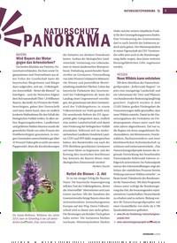 Titelbild der Ausgabe 2/2019 von NATURSCHUTZPANORAMA: NATURSCHUTZ PANORAMA. Zeitschriften als Abo oder epaper bei United Kiosk online kaufen.