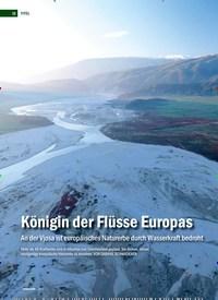 Titelbild der Ausgabe 2/2019 von Königin der Flüsse Europas: An der Vjosa ist europäisches Naturerbe durch Wasserkraft bedroht. Zeitschriften als Abo oder epaper bei United Kiosk online kaufen.