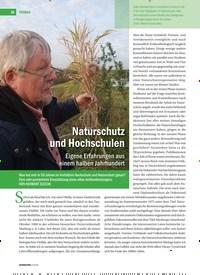 Titelbild der Ausgabe 2/2019 von Naturschutz und Hochschulen: Eigene Erfahrungen aus einem halben Jahrhundert. Zeitschriften als Abo oder epaper bei United Kiosk online kaufen.