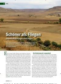 Titelbild der Ausgabe 3/2019 von Schöner als Fliegen Umweltbetrachtungen eines Pilgers. Zeitschriften als Abo oder epaper bei United Kiosk online kaufen.