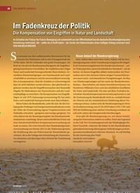 Titelbild der Ausgabe 4/2019 von Im Fadenkreuz der Politik: Die Kompensation von Eingriffen in Natur und Landschaft. Zeitschriften als Abo oder epaper bei United Kiosk online kaufen.