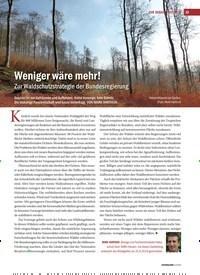 Titelbild der Ausgabe 4/2019 von Weniger wäre mehr! Zur Waldschutzstrategie der Bundesregierung. Zeitschriften als Abo oder epaper bei United Kiosk online kaufen.