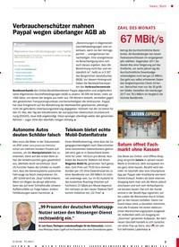 Titelbild der Ausgabe 5/2018 von Bunt: Verbraucherschützer mahnen Paypal wegen überlanger AGB ab. Zeitschriften als Abo oder epaper bei United Kiosk online kaufen.