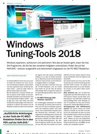 Titelbild der Ausgabe 5/2018 von Software: Windows Tuning-Tools 2018. Zeitschriften als Abo oder epaper bei United Kiosk online kaufen.