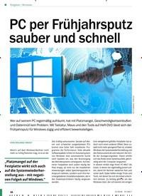 Titelbild der Ausgabe 5/2018 von Windows: PC per Frühjahrsputz sauber und schnell. Zeitschriften als Abo oder epaper bei United Kiosk online kaufen.