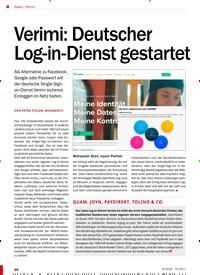 Titelbild der Ausgabe 6/2018 von Verimi: Verimi: Deutscher Log-in-Dienst gestartet. Zeitschriften als Abo oder epaper bei United Kiosk online kaufen.