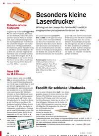 Titelbild der Ausgabe 6/2018 von Hardware: Besonders kleine Laserdrucker. Zeitschriften als Abo oder epaper bei United Kiosk online kaufen.