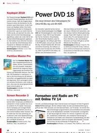 Titelbild der Ausgabe 6/2018 von Software: Power DVD 18. Zeitschriften als Abo oder epaper bei United Kiosk online kaufen.